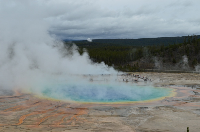 Grand Prismatic Spring, Midway Geyser Basin Yellowstone National Park